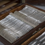 Набор столового серебра 84 проба 12 персон