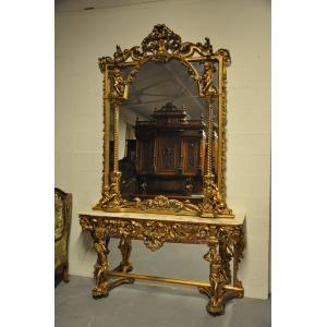 Зеркало с консолью 19 век Продано